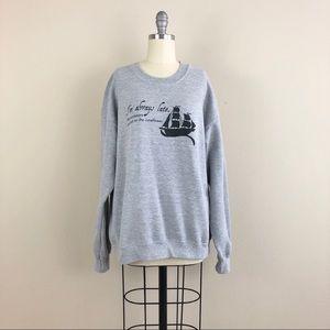 I'm Always Late Juneflower Crew Neck Sweater